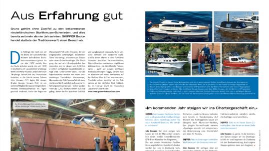 Gruno uitgelicht in Duitse blad Skipper